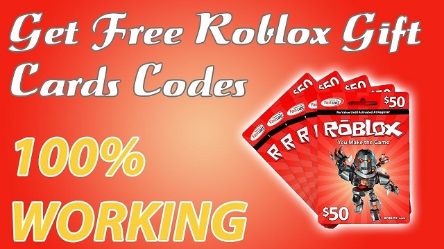 Roblox Gift Card Codes - Free Roblox Gift Cards 2021
