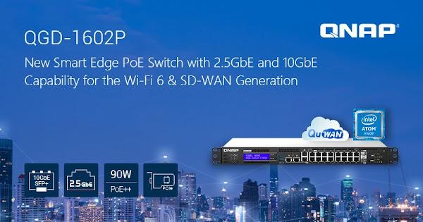QNAP lança novo Switch PoE Smart Edge QGD-1602P com 2.5GbE e 10GbE