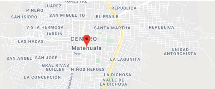 Mapa de Municipio de Matehuela,