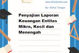 Penyajian Laporan Keuangan Entitas Mikro, Kecil dan Menengah
