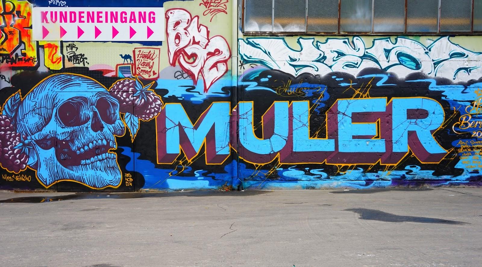Le Chameau Bleu - Street Art - Crane