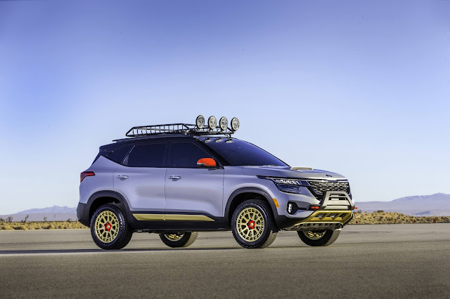 Kia Unleashes Untamed Seltos X-Line Concepts at 2019 Los Angeles Auto Show