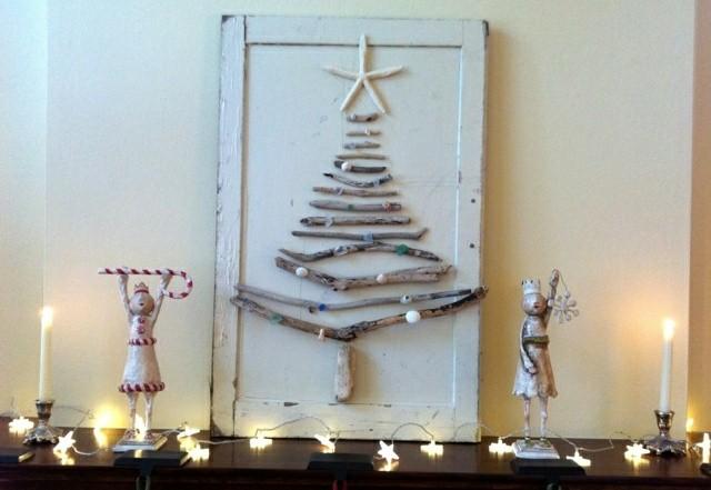 Árboles de Navidad low cost con ramas secas