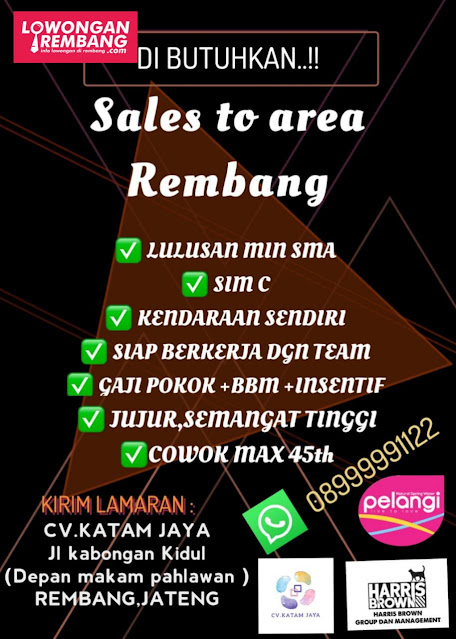 Lowongan Kerja Sales CV Katam Jaya Rembang