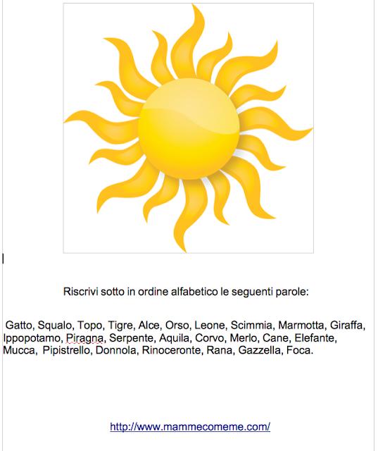 schede didattiche quinta primaria http://www.mammecomeme.com/