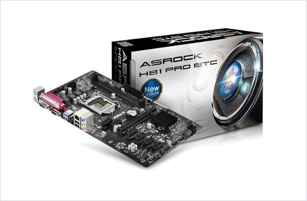 ASRock Motherboard H81 PRO BTC ATX DDR3