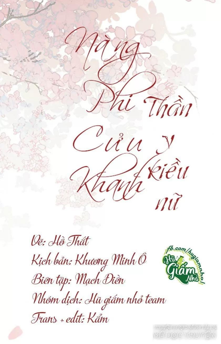 Nàng Phi Cửu Khanh - Thần Y Kiều Nữ chap 51 - Trang 1