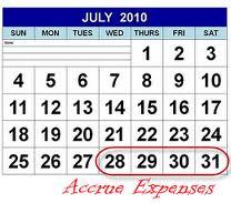 accrued expenses debit or credit