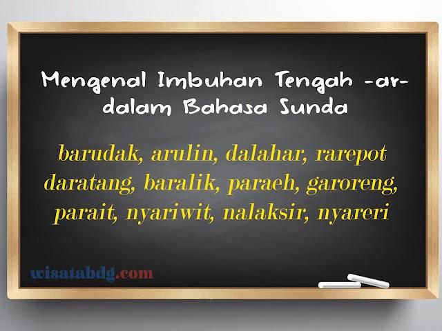 Mengenal Imbuhan Tengah -ar- dalam Bahasa Sunda Beserta Makna dan Contoh dalam Kalimat