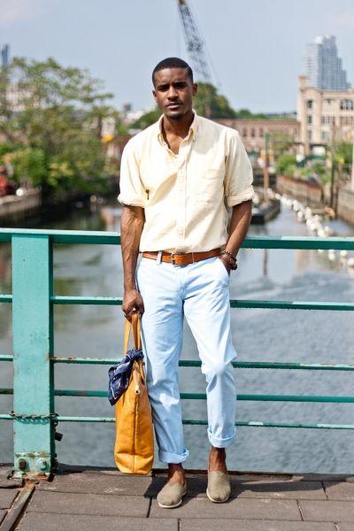look masculino com alpargatas para usar no verão