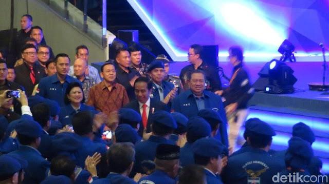 Bareng SBY dan AHY, Jokowi Hadiri Rapimnas Demokrat