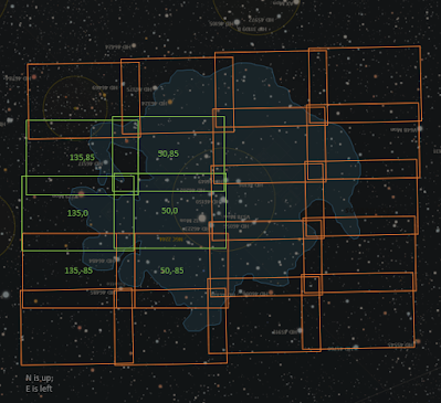 new mosaic layout for Rosette Nebula