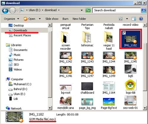 contoh hasil transfer file dari iphone ke komputer