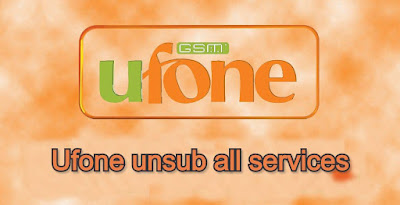 Ufone unsub all services