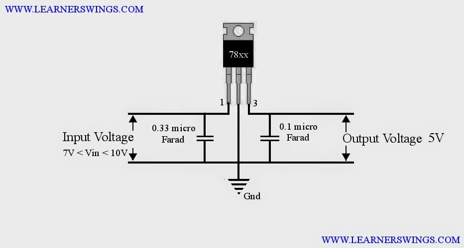 5v Fixed Output Voltage Regulator Using on 12v voltage regulator circuit