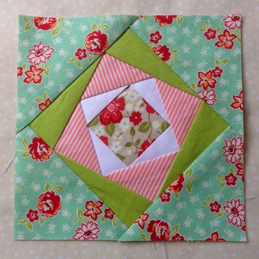 Twist Quilt Block designed By Rose Johnston of Threadbare Creations