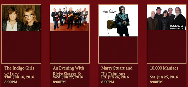 Stay with us to go to these shows at The Harvester - Claiborne House Bed and Breakfast in Rocky Mount Virginia