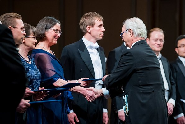 King Carl Gustaf and Queen Silvia attended the Royal Swedish Academy of Sciences' formal gathering held at Musikaliska Concert Hall