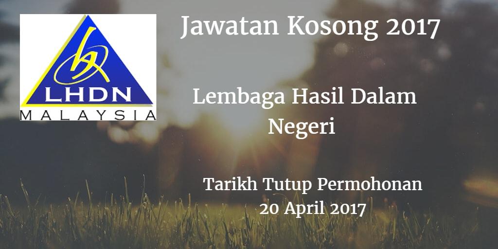 Jawatan Kosong LDHN 20 April 2017