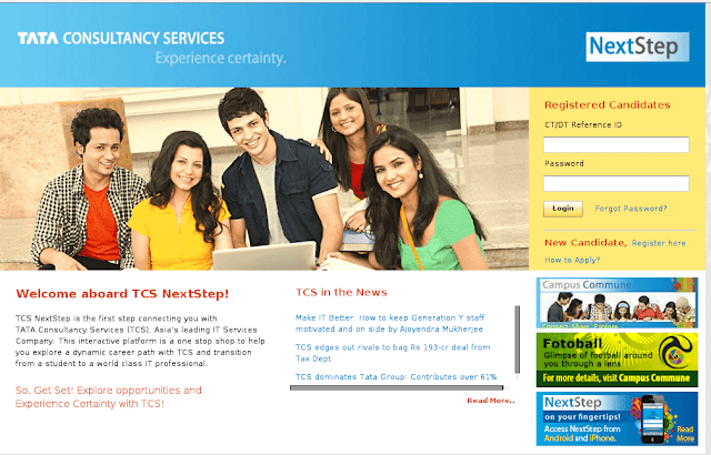 TCS NextStep Registration Link for Freshers
