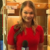 Australian reporter spooked as snake attacks the microphone while doing a film