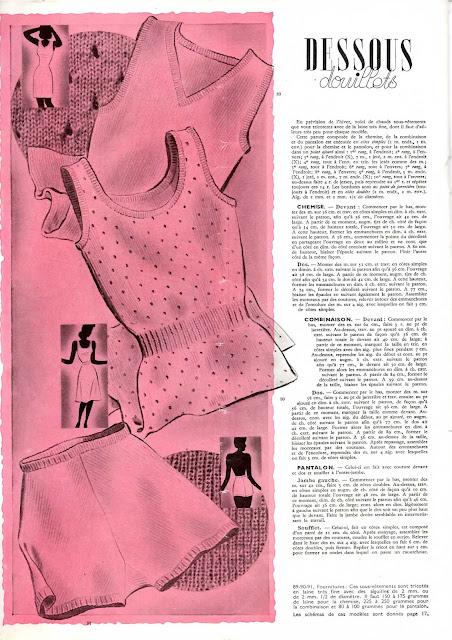 magazine mode et travaux octobre 1942 lingeries en tricot pour femme