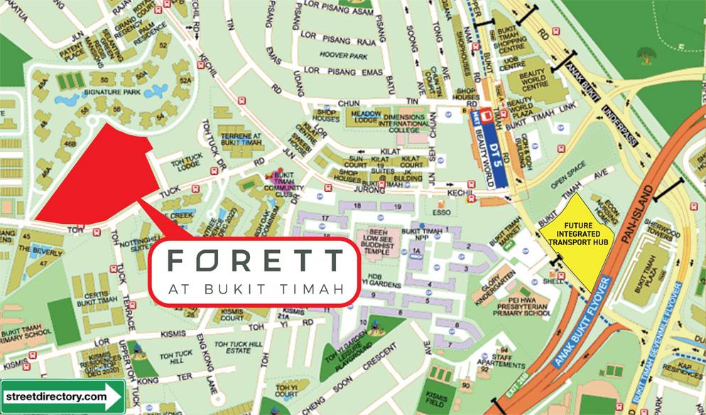 Forett at Bukit Timah Location Map