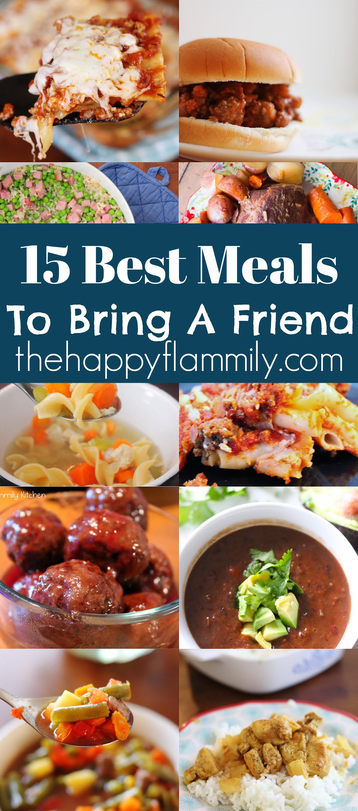 15 best meals to take to a friend. Best meals to bring someone when they have a baby. Easy meals to make for friends. Easy meals to make when you have people over for dinner. Best meals for serving guests. #dinner #Meals #family #service #bonding #friends