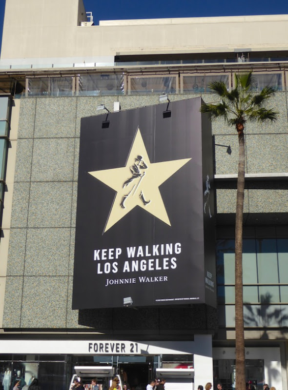 Johnnie Walker Keep walking Los Angeles billboard