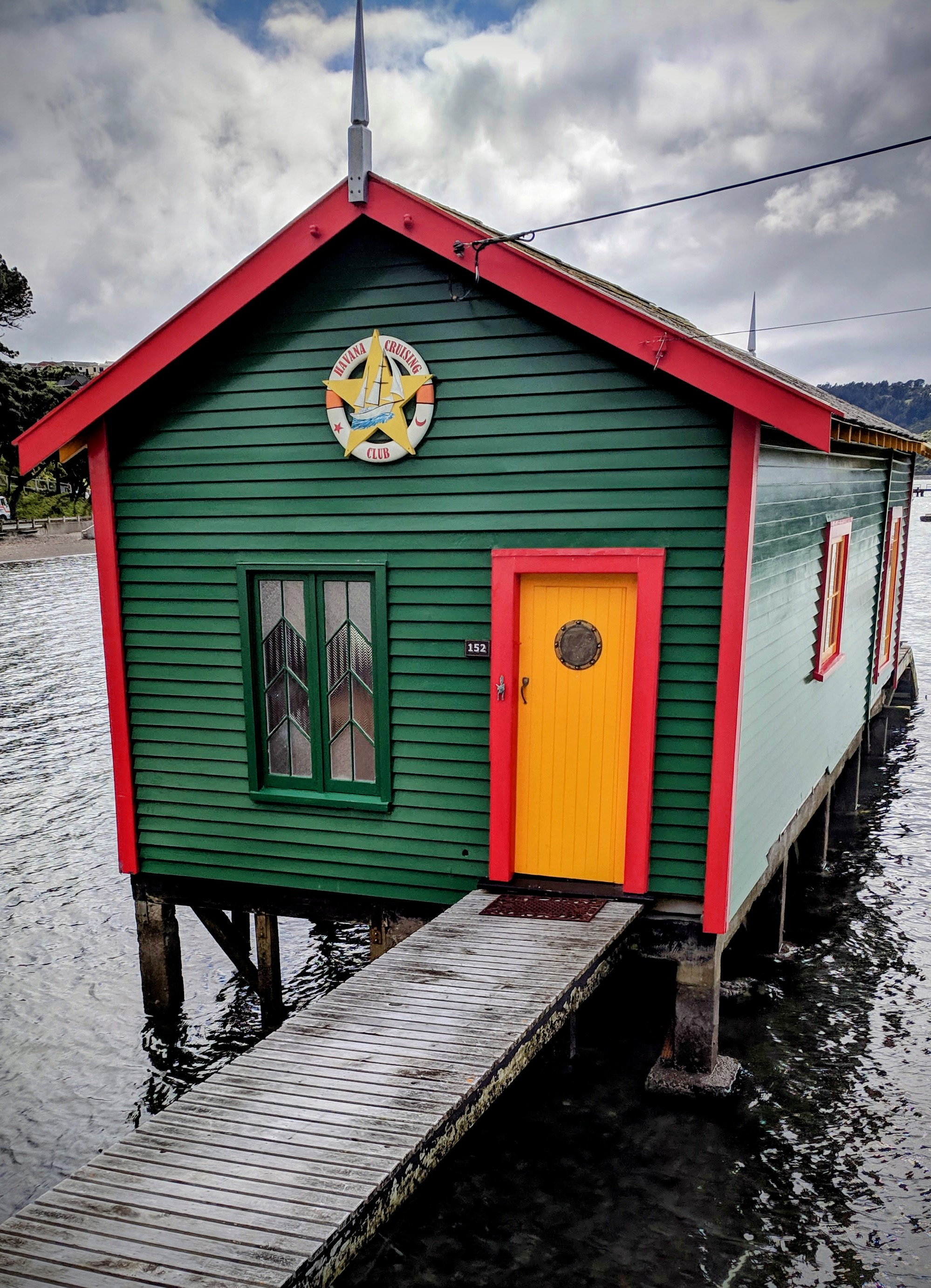 Coloured boatshed for Pirates