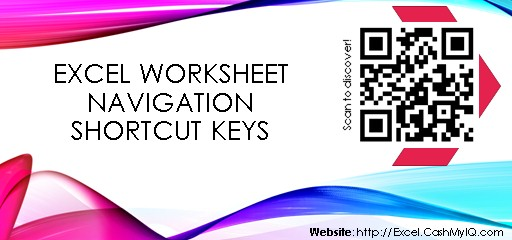 EXCEL WORKSHEET NAVIGATION SHORTCUT KEYS