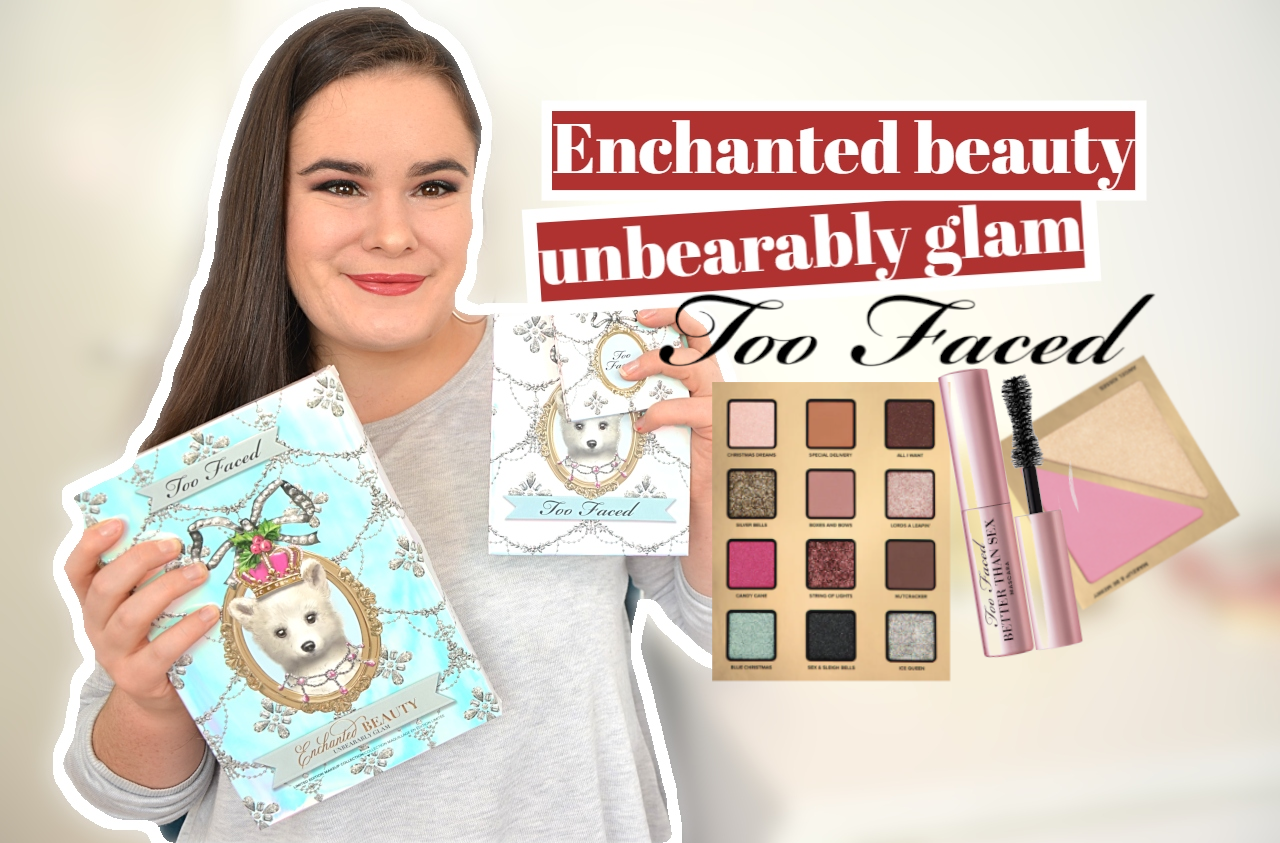 enchanted beauty unbearable glam collection de noel 2020 too faced