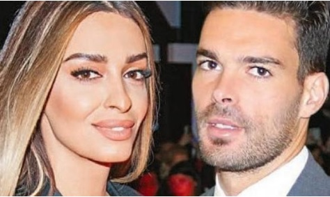 Eleni Foureira and Alberto Botia