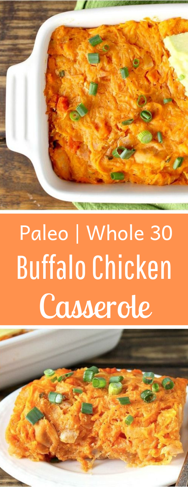 Paleo Buffalo Chicken Casserole #whole30 #healthy