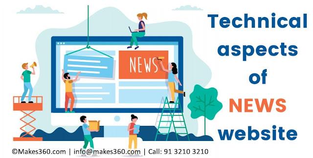 Basic technical aspects of NEWS website