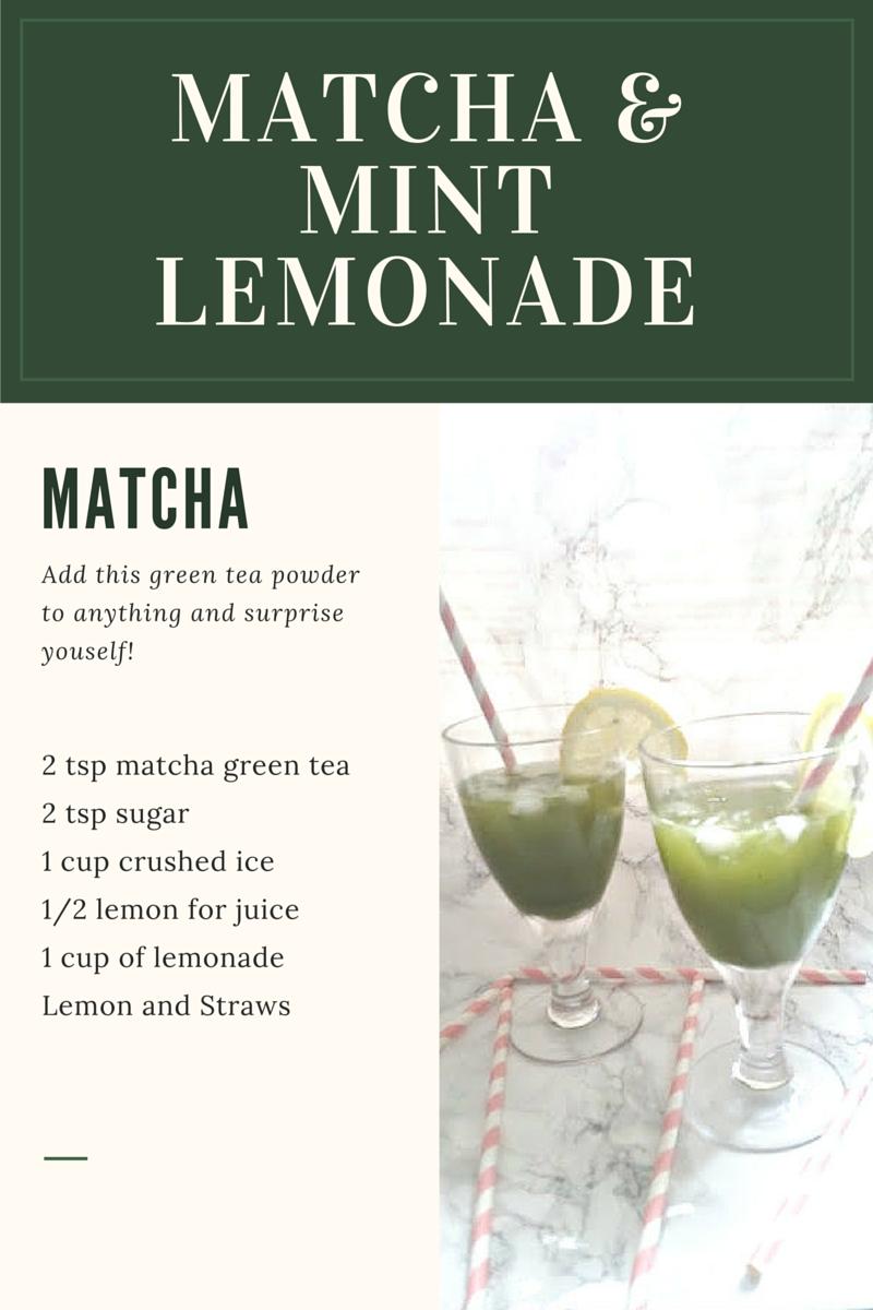 MATCHA GREEN TEA LEMONADE