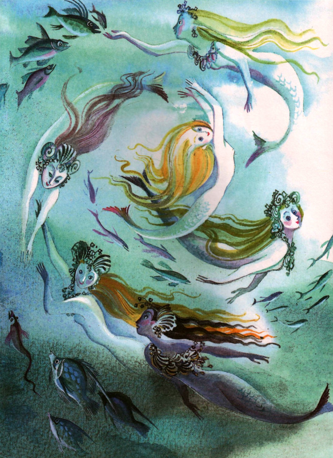 çizgili masallar: The Little Mermaid by Nika Goltz