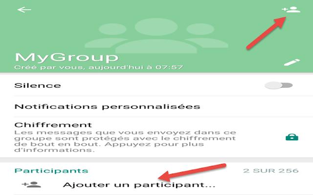 إضافة أعضاء لمجموعة الواتساب