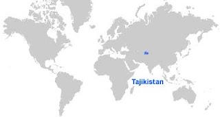 Gambar Peta letak Tajikistan