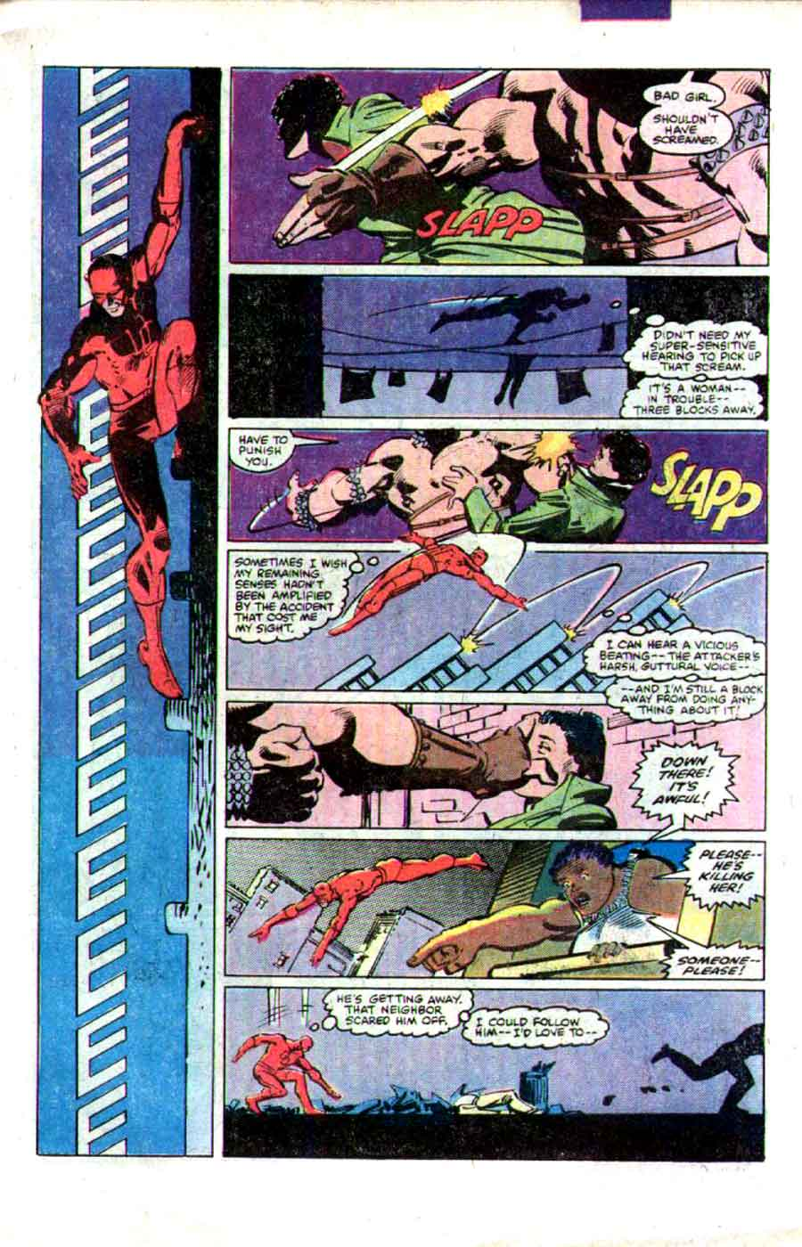 Daredevil v1 #173 marvel comic book page art by Frank Miller