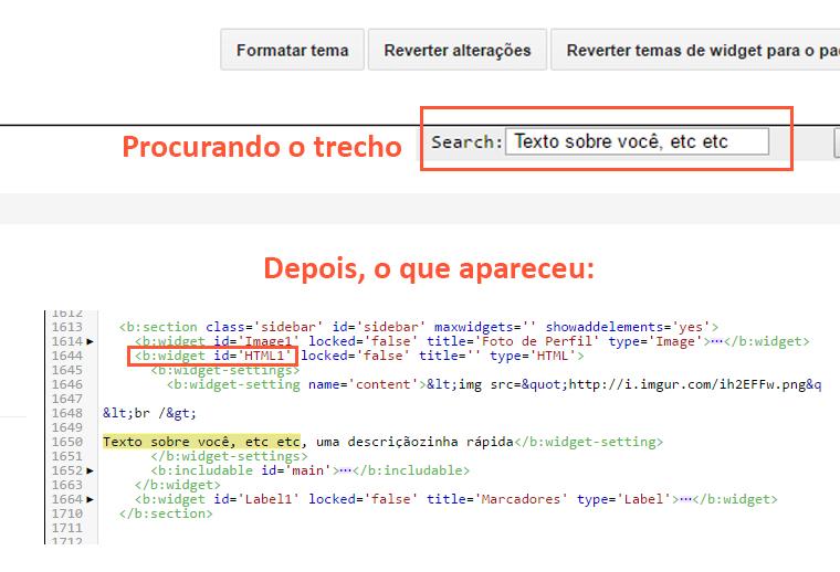 Localizando HTML no blogger