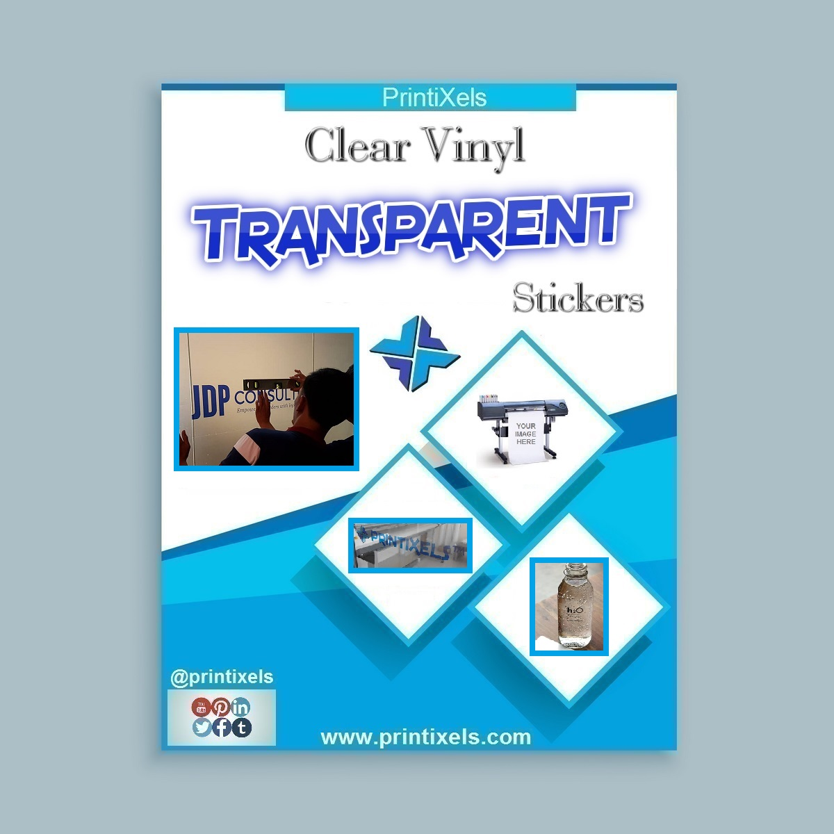 Clear Vinyl, Transparent Stickers & Decals