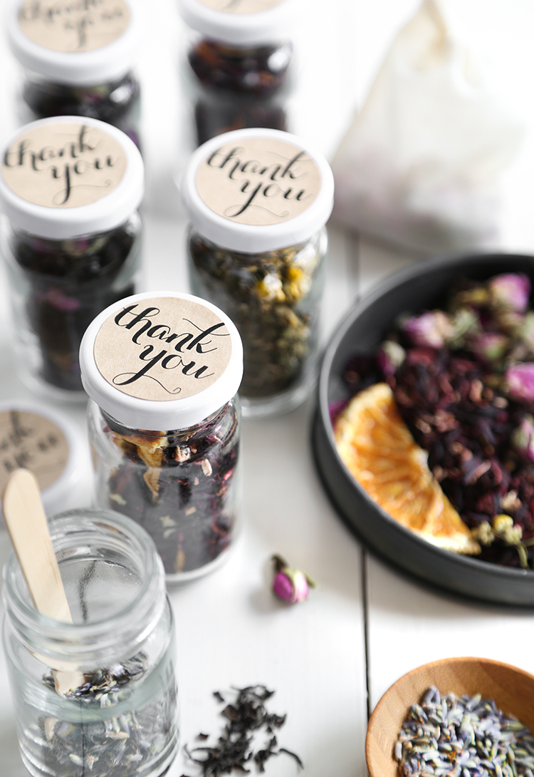 By Heather Baird Published Wednesday August 02 2017 Diy Tea Blends Recipe Custom Wedding Favors