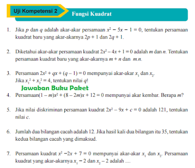 Kunci Jawaban Buku Paket MATEMATIKA Uji Kopetensi 2 Halaman 129 130 131 132 Kelas 9 Kurikulum 2013