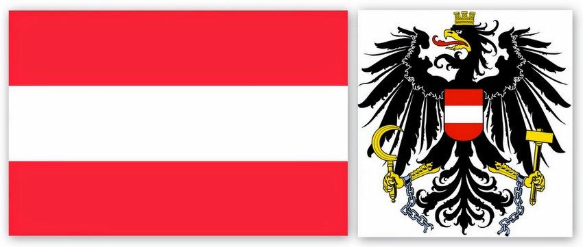 Флаг и герб Австрии