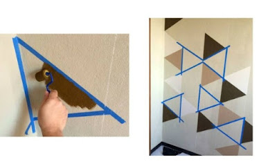 Pintura com uso de fita adesiva