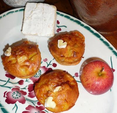 Muffins salés aux pommes et au Neufchâtel