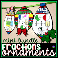 Fractions holiday ornaments