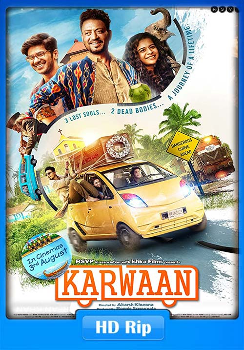 Karwaan 2018 720p Hindi HDRip x264 | 480p 300MB | 100MB HEVC