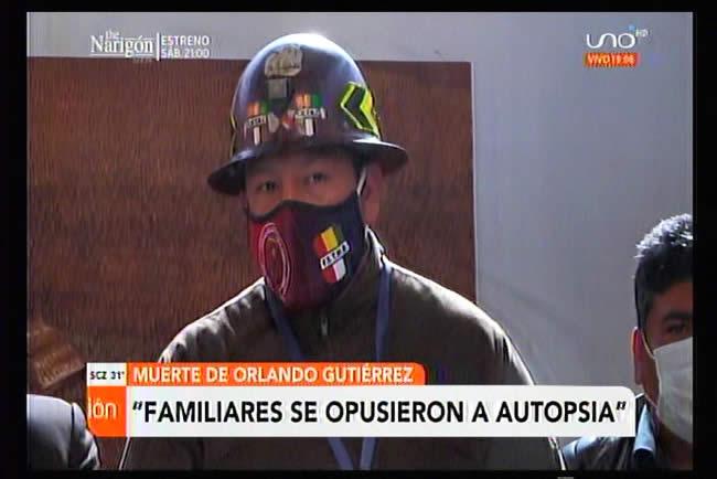 Familiares de Orlando Gutiérrez presentan acta de oposición a autopsia del exdirigente miner